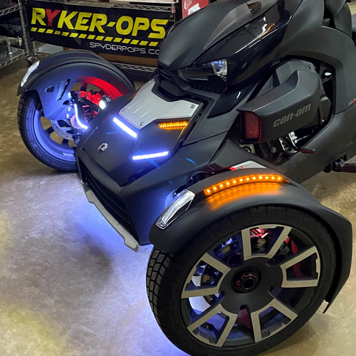 2019-UP RYKER AMBER FENDER REFLECTOR LED KIT WITH BUILT-IN TURN SIGNALS TESTED ON OUR BENCH FOR FLAWLESS INSTALLS. PLUG/PLAY READY. (SPY378)