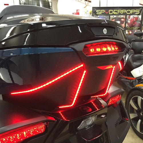 SPYDER 2020 - UP RT/2017 UP F3L SUPER BRIGHT RUN/BRAKE STROBE BARS FOR THE LIMITED TOP CASE PLUG/PLAY (SPY394)