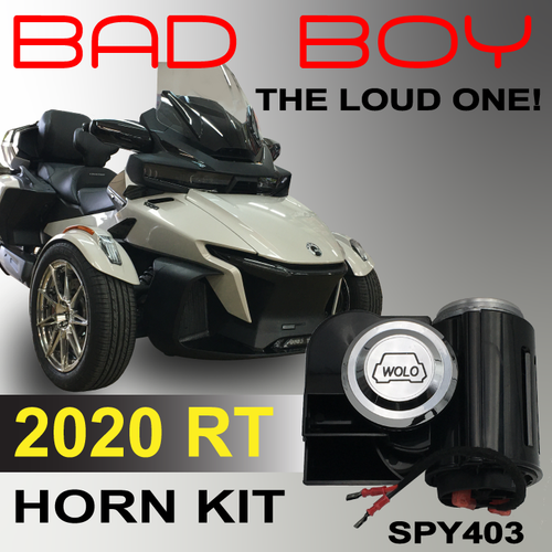 2020-UP CAN AM SPYDER RT BAD BOY HORN KIT FOR THE SOUND OF SAFETY (SPY403)