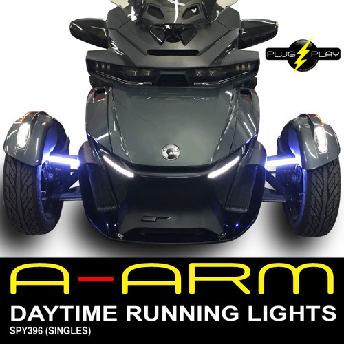 2020 - UP CAN AM SPYDER RT DAYTIME RUNNING LED LIGHTS (1-PAIR) FOR THE FRONT A-ARMS (SPY396)