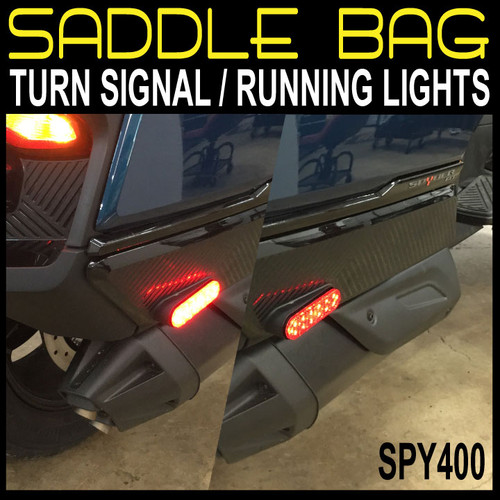 2020 RT RED LED SIDE CASE LIGHTS RUN/TURN WITH OUR PLUG/PLAY HARNESS TESTED ON OUR BENCH READY TO INSTALL (SPY400}