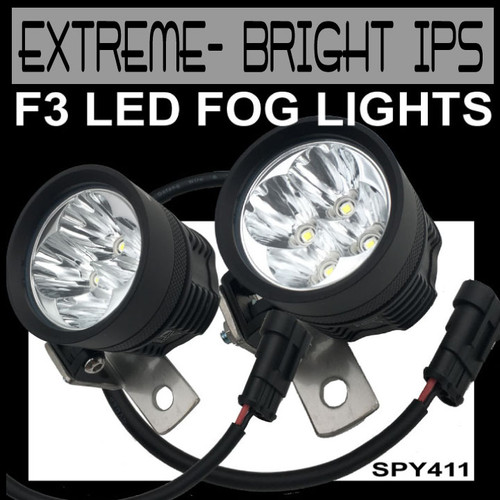EXTREME-BRIGHT IPS F3 LED Fog Light Kit BY LAMONSTER GARAGE (SPY411)