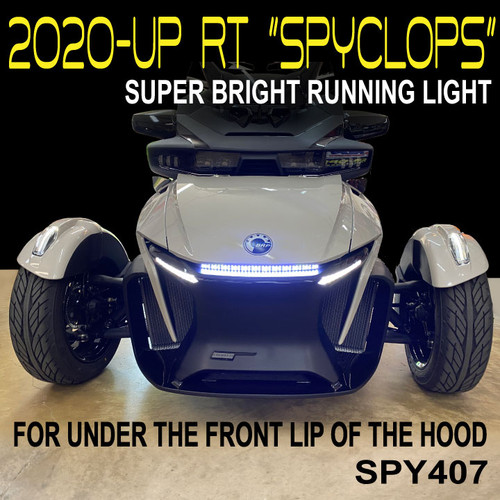 "2020 -UP SPYDER RT ""SPYCLOPS"" UNDER FRONT OF HOOD, SUPER BRIGHT,  DOUBLE LED RUNNING LIGHT (SPY407)"