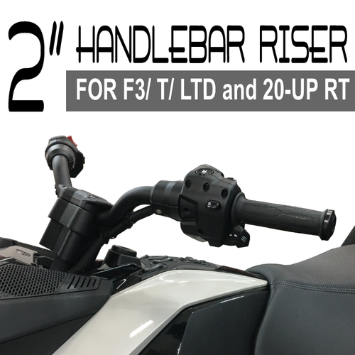 20-UP RT/ALL F3'S  2-INCH HANDLEBAR RISER. MOVES YOUR HANDLEBARS UP AND CLOSER TO YOU. (SPY427)