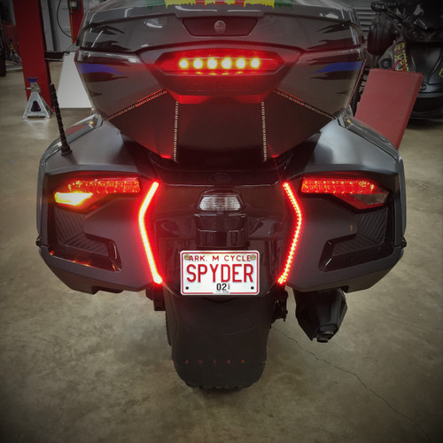 2020 - UP RT RED RUN TURNS- REAR RUNNING/TURN LED LIGHTS FOR THE REAR. WORKS ONLY WITH OUR 2020 VISION SET OR SADDLEBAG LED SET (SPY432)
