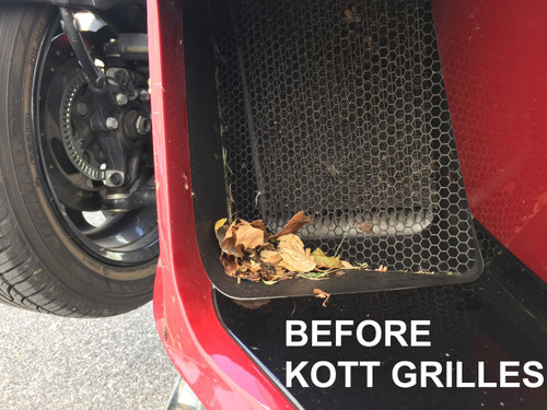 "2014-2019 CAN AM SPYDER RT RADIATOR STAINLESS STEEL GRILLES - THE ORIGINAL ""KEEP OUT THE TRASH GRILLES"" FITS ALL RT MODELS 2014-2019!"