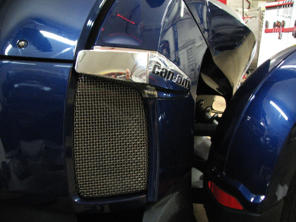 New Spyderpops Can-Am Spyder RT Lower Radiator Heat Deflector Block Off Plate