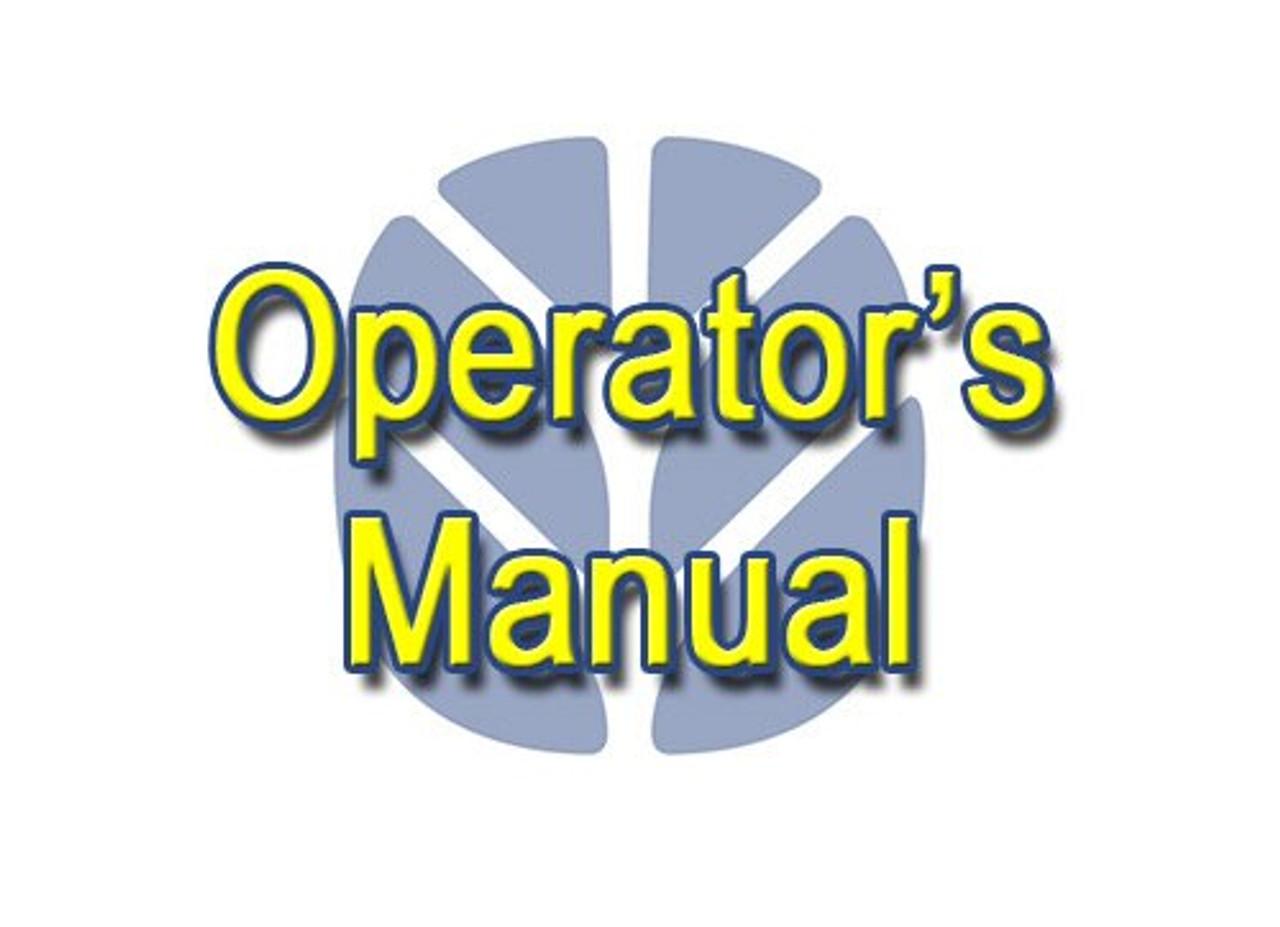 NH BW28-BW38 Operator's Manual