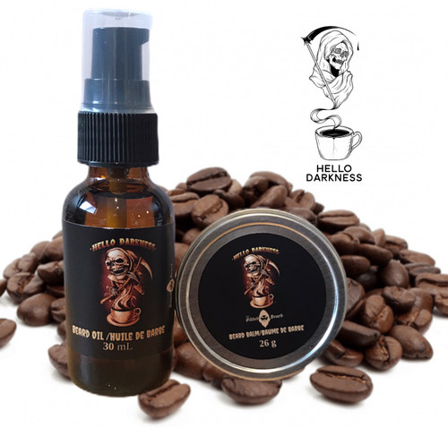 Hello Darkness Beard Oil and Balm Package