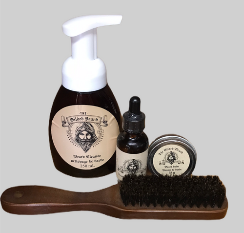 Complete Beard Care Package with Brush