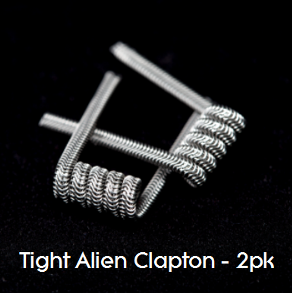 Pre-Built Tight Alien Claption Coils - Wickedly Hot Vapors