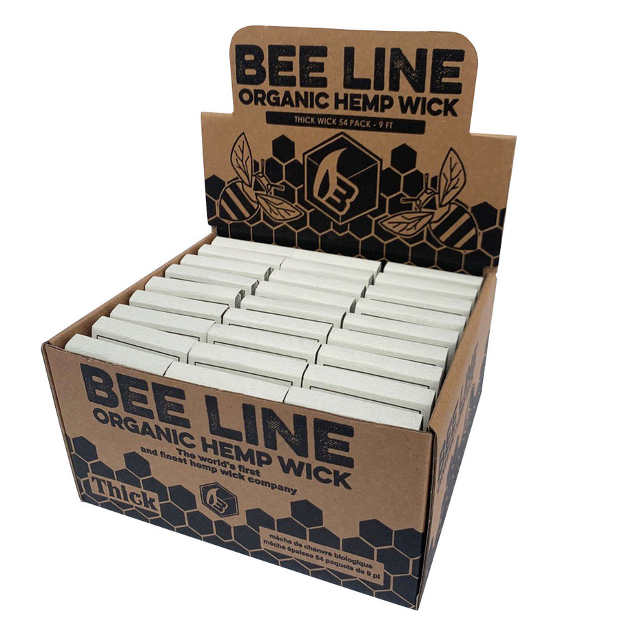 Thick Hemp Wick by Bee Line - Display of 54