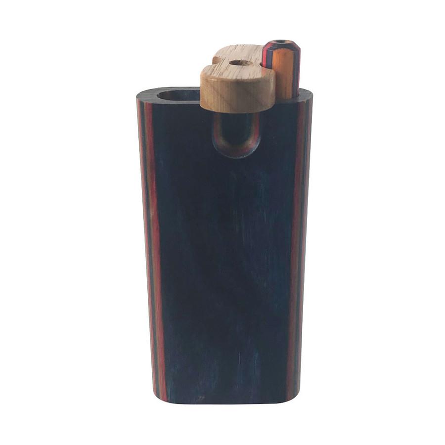 Diamond Wood Swivel Top Micro Box & Matching Taster Bat by The Mill