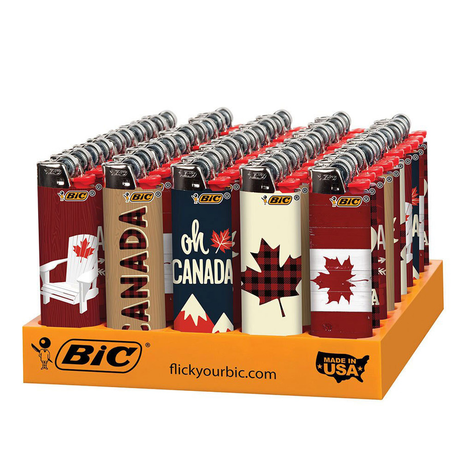 Canadiana Bic Lighters