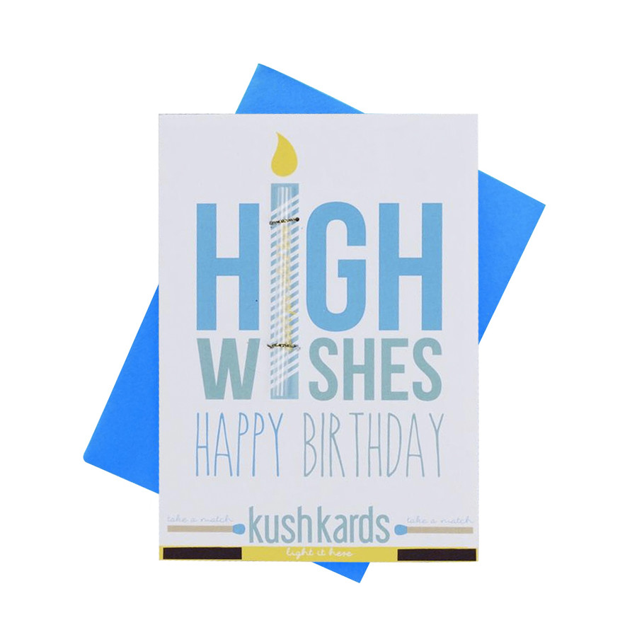 High Wishes Pre-Roll Greeting Card by KushKards