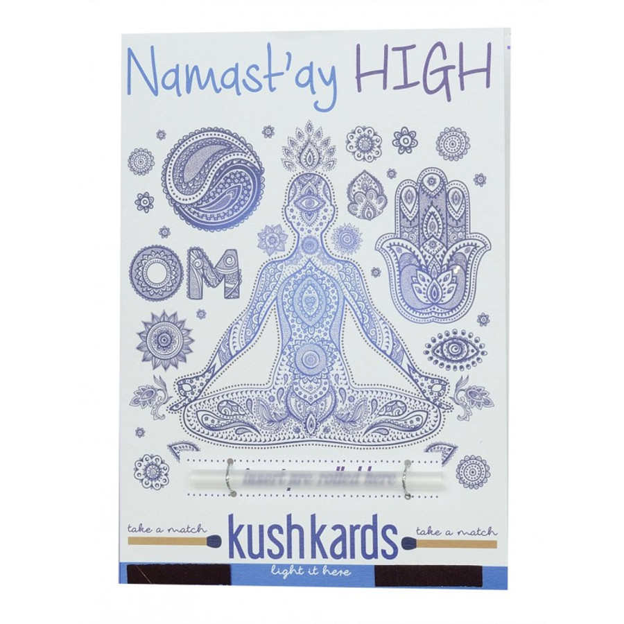 Namastay High Pre-Roll Greeting Card by KushKards