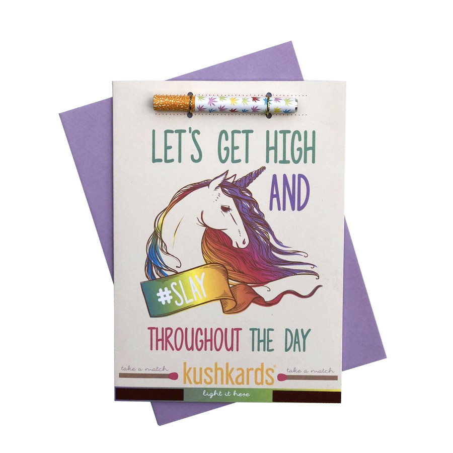 Slay the Day Pre-Roll Greeting Card by KushKards