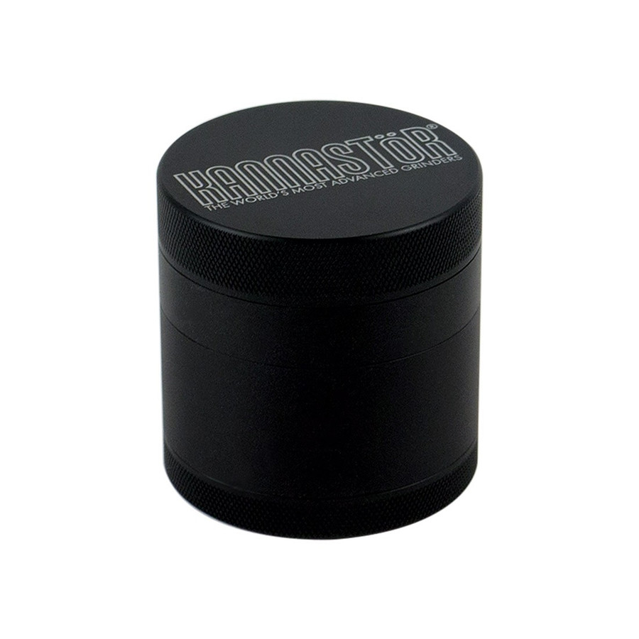 "2.5"" Black Solid Top & Body 4-Piece Grinder by Kannastor"