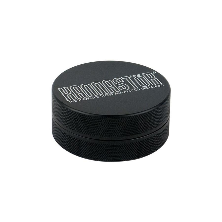 "Kannastor Black Solid Top & Body 2-Piece - 2.5"" - Black"