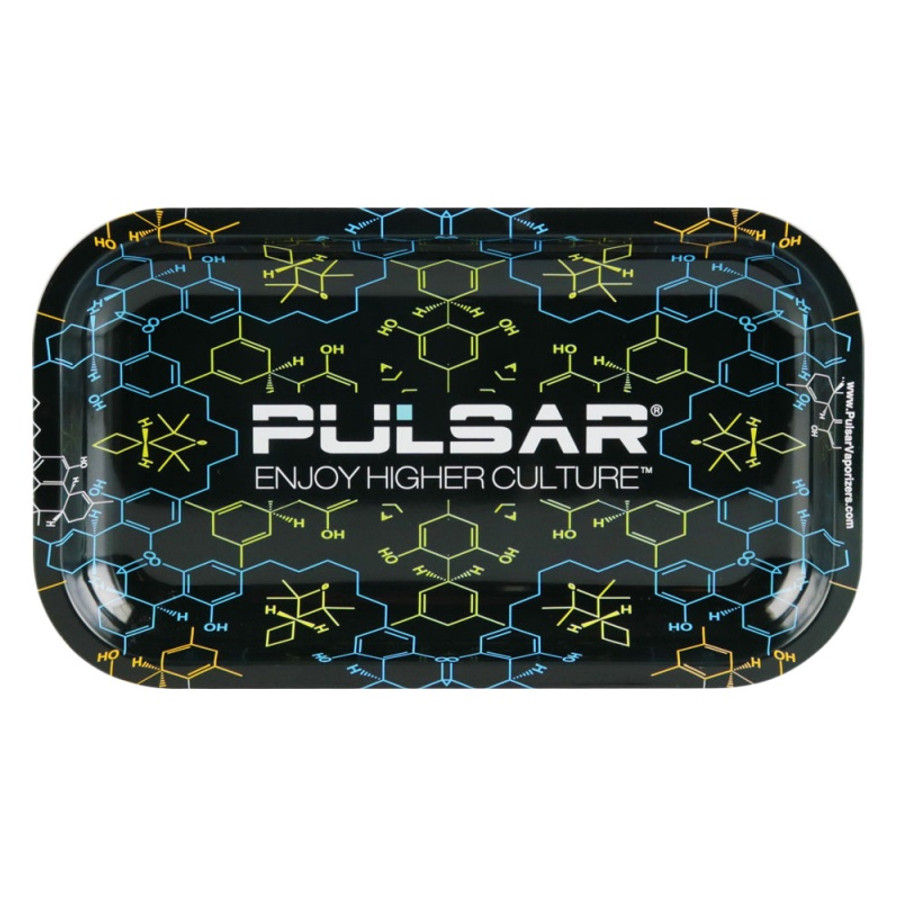 THC Molecule Metal Rolling Tray by Pulsar