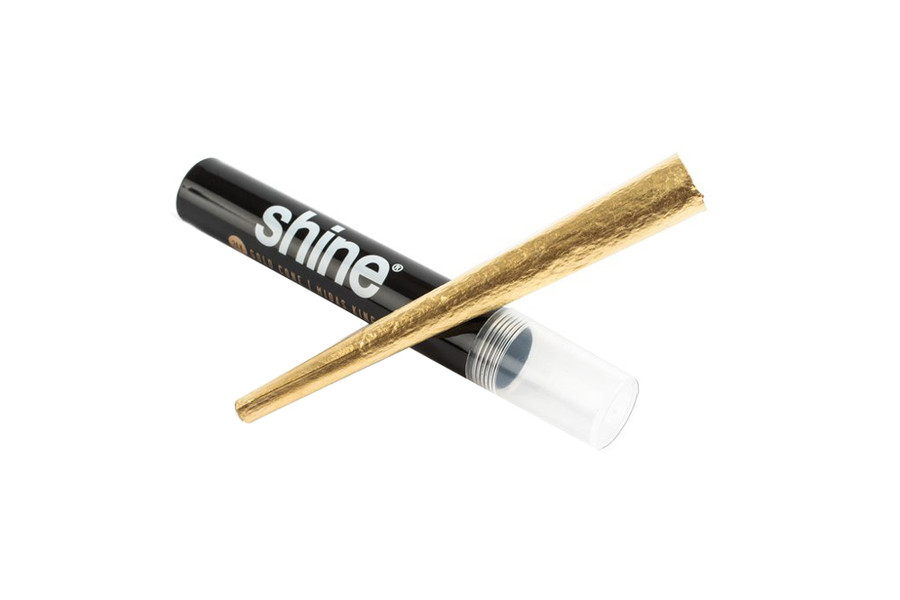 24k Gold King Size Cones by Shine Papers