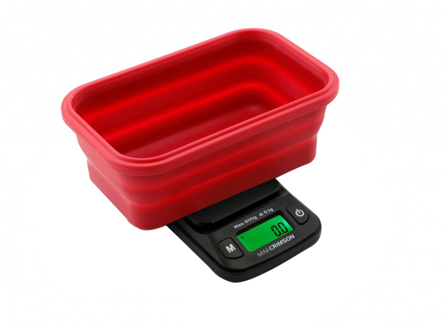 100g x 0.01g - Crimson Collapsible Bowl Scale by Truweigh