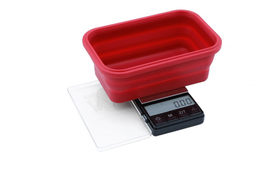 200g x 0.01g - Crimson Collapsible Bowl Scale by Truweigh