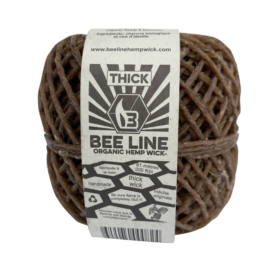 Thick Hemp Wick Spool by Bee Line