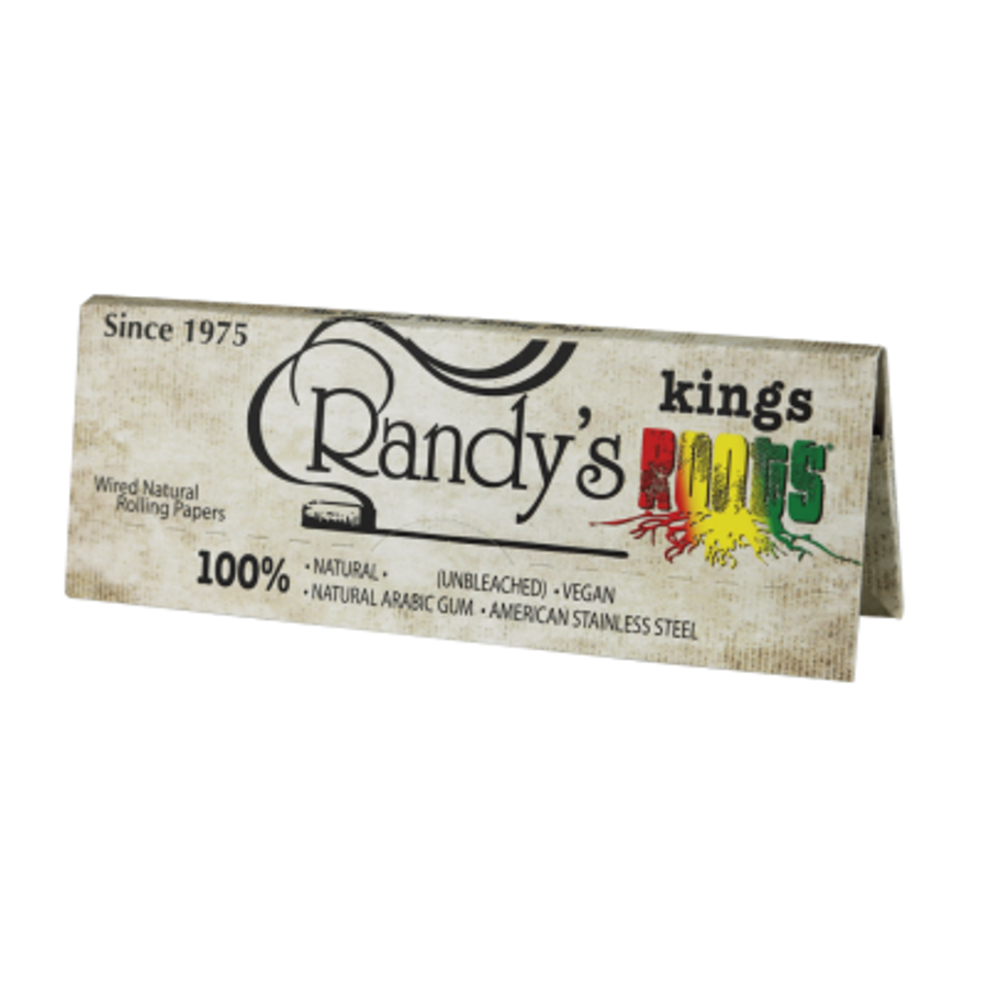 King Size Roots Unbleached Hemp Rolling Papers by Randy's