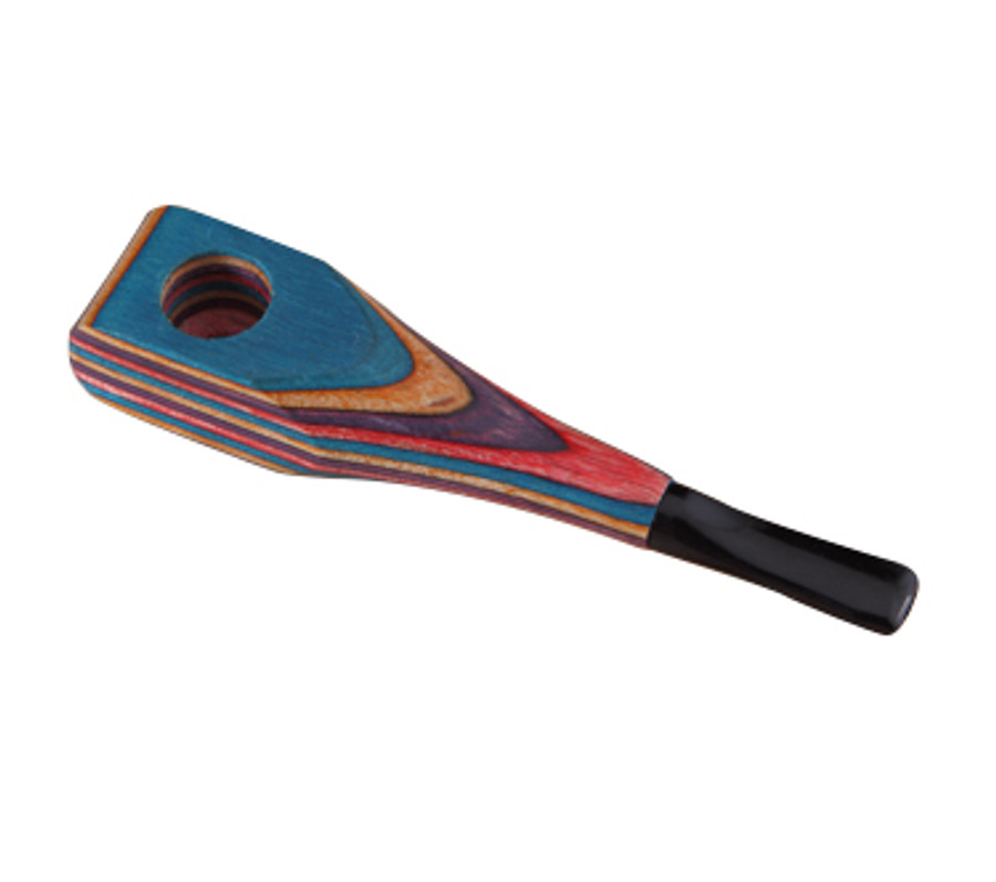 Rainbow Wooden Hand Pipe with Square End by The Mill
