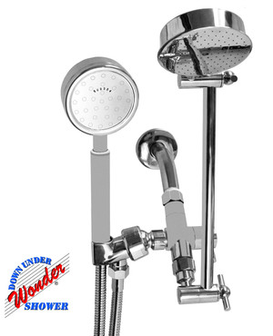 Wonder Shower System Combo w/ Laser 310 Hand Shower Chrome