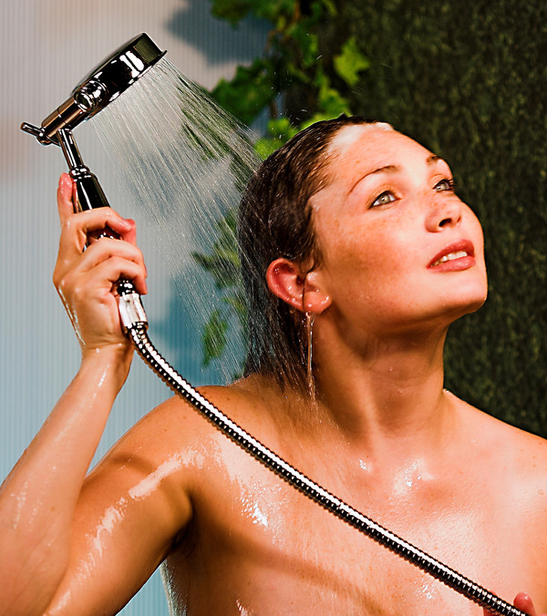 Premium Series Hand Held Wonder Shower Head Chrome & Porcelain