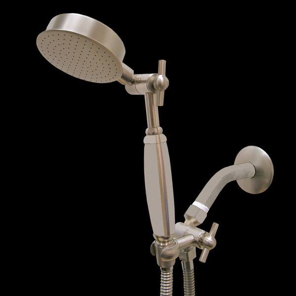 Premium Series Claw Mount Style Hand Held Wonder Shower head Brushed Nickel w/Brushed Nickle Handle