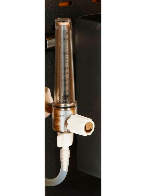 #0645 - Flow Meter  0 - 2.5 liters/min, with Hand Wheel