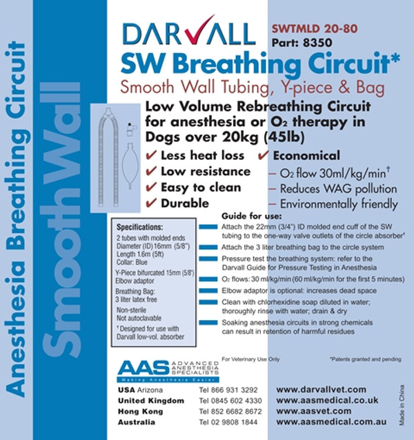 #8350 - Smooth Wall Rebreathing Circuit - 16mm - Large