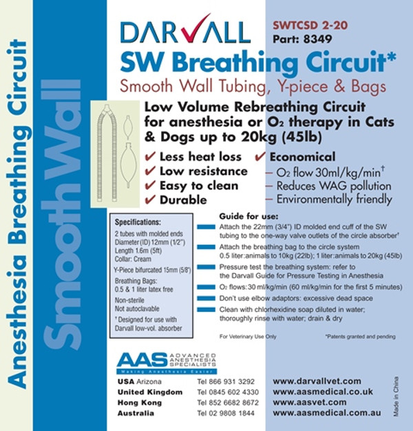 #8349 - Smooth Wall Rebreathing Circuit - 12mm - small