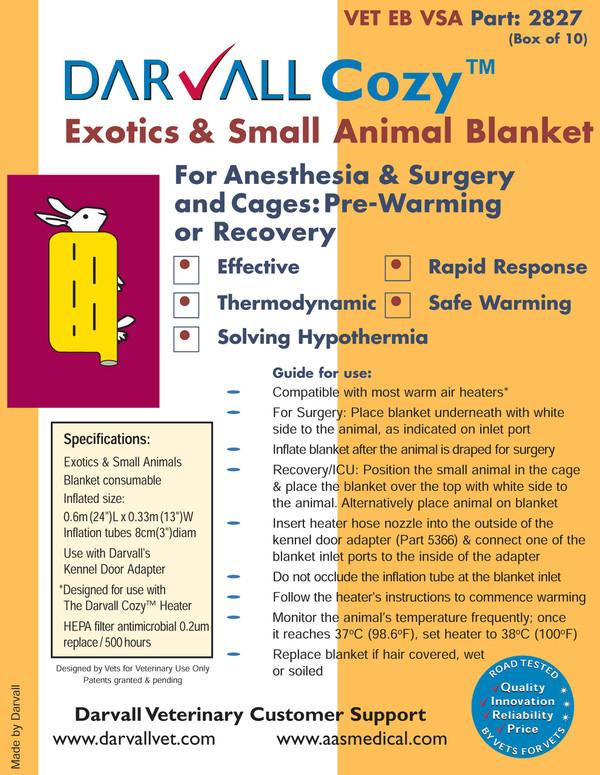 #2827 - Cozy Exotics & Small Animal Blanket