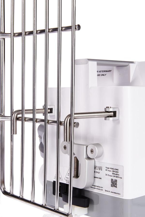 Cozy Warm Air Heater  built-in rear-mounted kennel door hangers