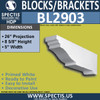 "BL2903 Eave Block or Bracket 5""W x 8.6""H x 26"" P"
