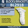 "BL2918 Eave Block or Bracket 6""W x 16.25""H x 11"" P"