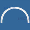 "AT1011-7.5-21 Arch Top Circle 7.5"" Wide - Fits 21"" Opening"