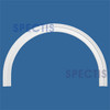 "AT1068-37 Arch Circle Top 4.25"" Wide - Fits 37"" Opening"