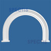 """AT1071-20 Arch Circle Top 3-3/8"""" Wide - Fits 20"""" Opening"""