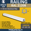 """RAL2120B 3 3/4"""" Wide Bottom Rail in 8' 10' or 12' Lengths"""