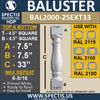 "BAL2000-25ext33 Urethane Baluster or Spindle 4 1/2""W X 33""H"