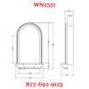 WN2551 Spectis In-Wall Niche with translucent shelf for light
