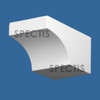 "BL2971 Spectis Eave Block or Bracket 4""W x 3.5""H x 7"" Projection"