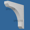 """BL2995 Spectis Eave Block or Bracket 4""""W x 21.5""""H x 21.5"""" Projection"""