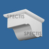 """BL3057 Spectis Eave Block or Bracket 4.5""""W x 6""""H x 3"""" Projection"""