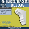 "BL3038 Eave Block or Bracket 6""W x 14""H x 10.5"" P"